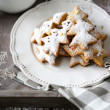 Christmas cookies and snowflake — Stock Photo