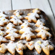 Stock Photo: Christmas cookies under powdered sugar