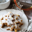 Sweet and delicious Christmas gingerbread cookies — Stock Photo