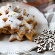 Shortbread cookies on a plate, Christmas parties — Stock Photo