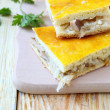 Pieces of pie with cabbage and mushrooms — Foto de Stock