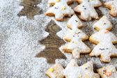 圣诞节的奶油脆饼 — 图库照片