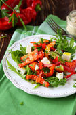 Salad with fresh peppers and feta — Stock Photo