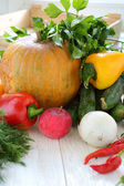 Collection of home-grown vegetables — Stock Photo