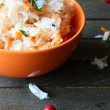 Sauerkraut in a bowl on the table — Stock Photo