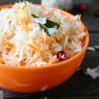 Healthy sauerkraut with cranberries — Stock Photo