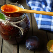 Stock Photo: Plum jam
