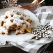 Rustic christmas gingerbread — Stock Photo