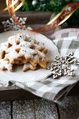 Rustic christmas gingerbread — Stock Photo