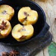 Quince baked in a pan — Stock Photo