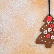 Background  - wooden Christmas decoration — Stock Photo