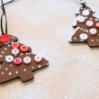 Wooden Christmas decoration, winter — Stock Photo #35092047