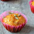 Mini muffins with pumpkin jam — Stock Photo