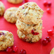 Foto de Stock  : Mini cookies with cranberries, winter treat