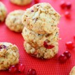 Mini cookies with cranberries, winter treat — Stock Photo