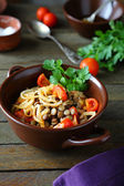 Green lentils with vegetables — Stock Photo