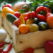 Vegetable crops in the drawer — Stock Photo