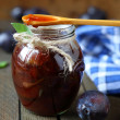 Sweet and fragrant treat, plum jam — Stock Photo