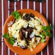Pasta with mushrooms and parmesan cheese — Stock Photo #35558717