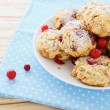 Shortbread cookies with cranberries — Stock Photo #35826301