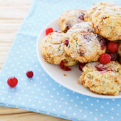 Shortbread cookies with cranberries — Stock Photo