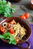 Nutritious porridge of lentils — Stock Photo