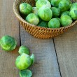 Fresh brussels sprouts — Stock Photo