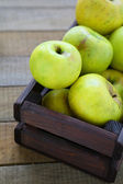 Homegrown green apples — Stock Photo