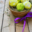 easter eggs in a basket — Stock Photo #37307843