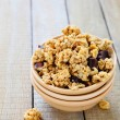 Granola with nuts and chocolate — Stock Photo