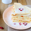 Fragrant crepes with cranberries — Stock Photo #37809671