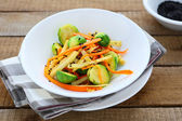 Spicy warm vegetable salad — Stock Photo