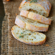 Ciabatta with cheese and thyme — Stock Photo #37908057