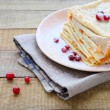 Stock Photo: Delicate fragrant crepes