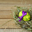 Easter egg with ribbon — Stock Photo