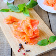 Pieces of fresh salmon — Stock Photo #38075095