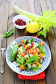 Salad with pumpkin and stem celery — Stock Photo