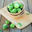 Stock Photo: Fresh brussels sprouts