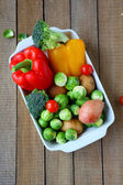 Ingredients for vegetable casseroles — Stock Photo