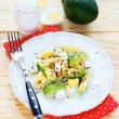 Salad of avocado and feta — Stock Photo