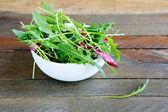 Fresh rocket salad salad with radicchio — Stock Photo