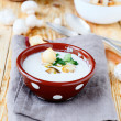 Stock Photo: Mushroom soup puree