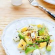 Stock Photo: Avocado salad with feta