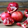 Stock Photo: Bunch of ripe pomegranate