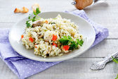Italian risotto with mushrooms — Stock Photo