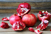 Bunch of ripe pomegranate — Stock Photo