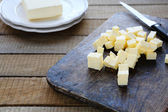 Slices of homemade butter — Stock Photo