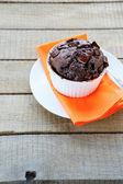 Flavored chocolate cupcake — Stock Photo