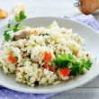 Vegetable risotto with mushrooms — Stock Photo