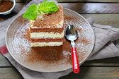 Piece of layer cake closeup — Stock Photo